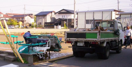 Rice-planting, Golden Week 2009, less than a block from my place.