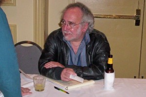 Peter S. Beagle, signing books at the World Fantasy Convention in Texas, 2006.