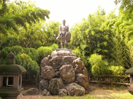 According to legend, this priest, Shinran, founder of the Jodo Shinshu sect of Buddhism, was spreading his doctrine here, in the Toyano region. . . .