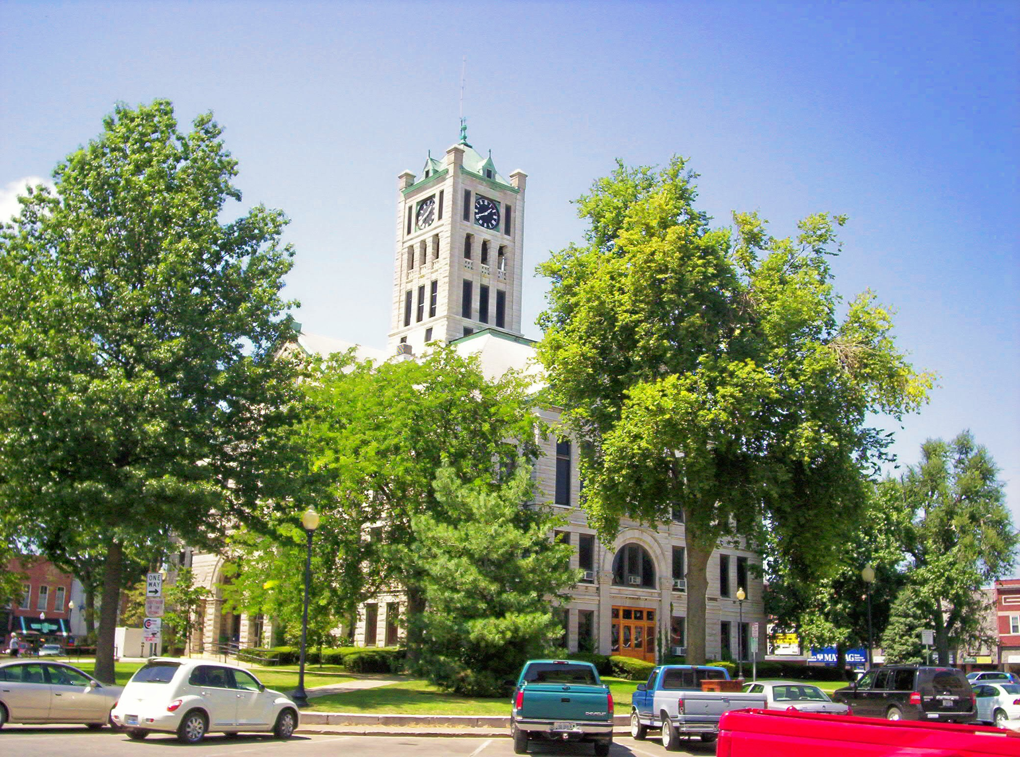 The Christian County Courthouse in Taylorville, Illinois