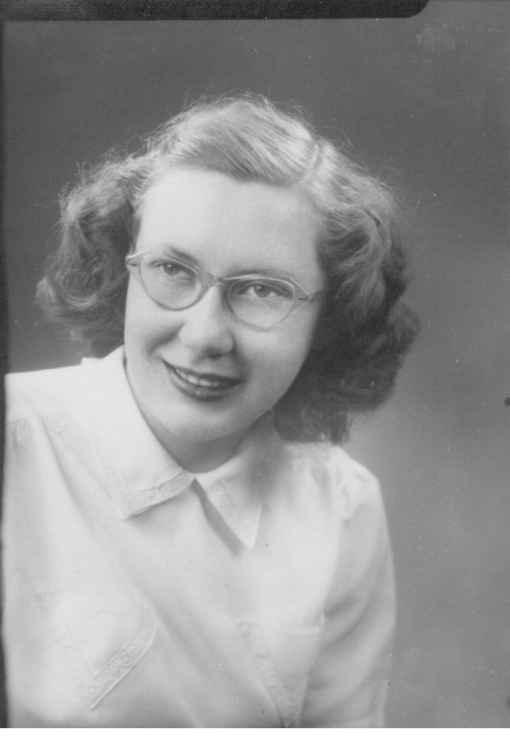 Mary Anne Durbin as a senior in high school